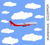 airplane in the sky icon  vector | Shutterstock .eps vector #622209929