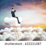 side view of young businessman... | Shutterstock . vector #622211387