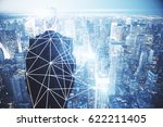 back view of young businessman... | Shutterstock . vector #622211405