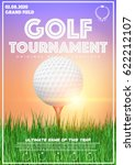 poster template with golf...   Shutterstock .eps vector #622212107
