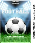 poster template with football... | Shutterstock .eps vector #622212155