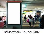 blank advertising billboard at... | Shutterstock . vector #622212389