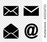 address icons set. set of 4... | Shutterstock .eps vector #622216721