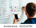 web designer planning... | Shutterstock . vector #622216784
