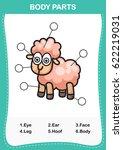 illustration of sheep... | Shutterstock .eps vector #622219031