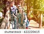 kids in green forest playing