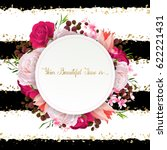 elegance flowers frame of color ... | Shutterstock .eps vector #622221431