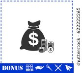 money icon flat. simple... | Shutterstock . vector #622222265