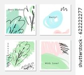 sketched trees on white with... | Shutterstock .eps vector #622222277