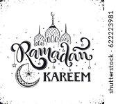 ramadan kareem hand drawn... | Shutterstock .eps vector #622223981