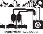 recycling and processing of... | Shutterstock .eps vector #622227011