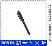 pen icon flat. simple... | Shutterstock . vector #622230371