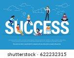 success concept illustration of ... | Shutterstock . vector #622232315