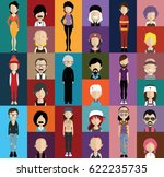 people avatar   with full body... | Shutterstock .eps vector #622235735