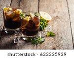 fresh made cuba libre with...   Shutterstock . vector #622235939