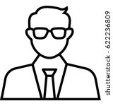 businessman vector icon | Shutterstock .eps vector #622236809