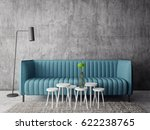 modern interior room with nice... | Shutterstock . vector #622238765