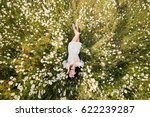 beautiful woman lying down in... | Shutterstock . vector #622239287
