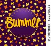 summer wonderful time. modern... | Shutterstock .eps vector #622240181