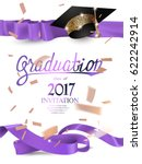graduation 2017 invitation card ... | Shutterstock .eps vector #622242914