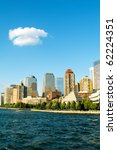 new york city panorama with... | Shutterstock . vector #62224351