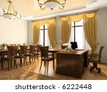 office interior 3d rendering | Shutterstock . vector #6222448