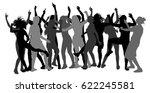 bachelorette party dancer... | Shutterstock .eps vector #622245581