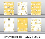 set of seamless patterns with... | Shutterstock .eps vector #622246571