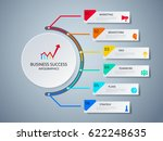 successful business concept... | Shutterstock .eps vector #622248635