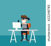 thief. hacker stealing... | Shutterstock .eps vector #622248785
