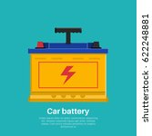 automobile rechargeable battery.... | Shutterstock .eps vector #622248881