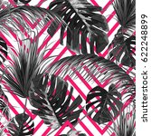 tropical seamless vector floral ... | Shutterstock .eps vector #622248899