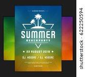 retro summer party design... | Shutterstock .eps vector #622250594