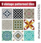 vintage design patterns tiles 9 ... | Shutterstock .eps vector #622252421