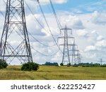 electricity pylons going into...