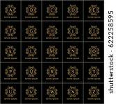 luxury vintage vector set of ... | Shutterstock .eps vector #622258595