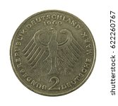 2 german mark coin  1969 ... | Shutterstock . vector #622260767