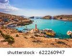 comino  malta   tourists crowd... | Shutterstock . vector #622260947