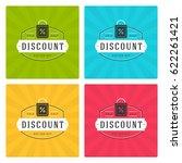 sale banners or badges vector...   Shutterstock .eps vector #622261421