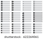 numbered list template  chart... | Shutterstock .eps vector #622264061