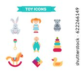 toys collection isolated on... | Shutterstock .eps vector #622266149