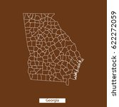 map of georgia | Shutterstock .eps vector #622272059