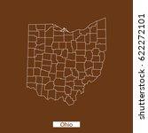 map of ohio | Shutterstock .eps vector #622272101