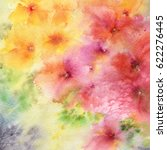 floral pattern. watercolor... | Shutterstock . vector #622276445