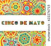 cinco de mayo card with bright...   Shutterstock .eps vector #622276715