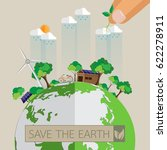 green eco earth.with eco... | Shutterstock .eps vector #622278911