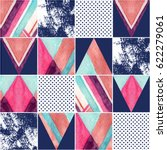 abstract squares and triangles... | Shutterstock . vector #622279061