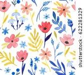 watercolor seamless pattern... | Shutterstock . vector #622281329