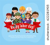 people of different professions ... | Shutterstock .eps vector #622281905