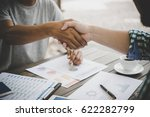 close up of two business people ... | Shutterstock . vector #622282799